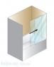 Шторка на ванну Kolpa-San Orion TV/2D 120 + U-Profil СH