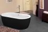 Ванна Kolpa San Siris-FS 178x88 Black & White
